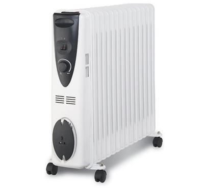 Clikon Oil Radiator Room Heater,13 Fins, 2500W, White
