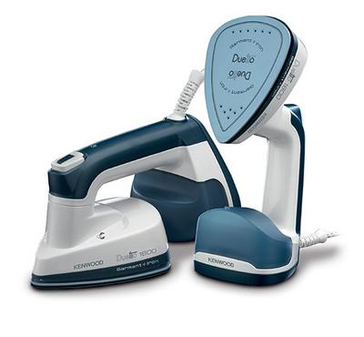 Kenwood 2in1 Garment Steamer, 1000 Watts, Ceramic Plate, LED Light, White&Blue