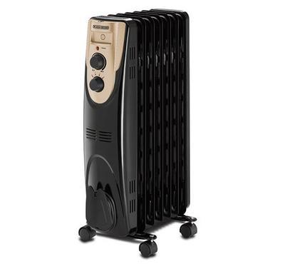 Black+Decker, 7Fins, Oil Radiator Room Heater, 15sqm, 1500W, Black