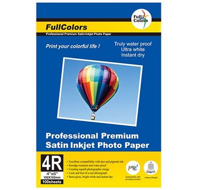 FULL COLORS 4R 4 x 6 inch, STAIN Inkjet Photo Paper, 100 Sheets