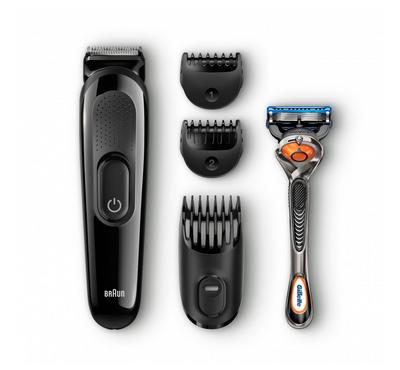 Braun Stylingkit 4in1 Rechargeable Beard Hair Trimmer with gillette Fusion 5