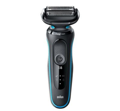 Braun Series 5 Rechargeable Mens Shaver, LED Display, Wet&Dry, Mint/Black