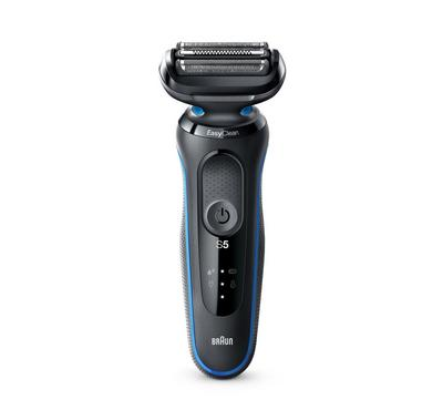 Braun Series 5 Rechargeable Mens Shaver, LED Display, Wet&Dry, Blue/Black