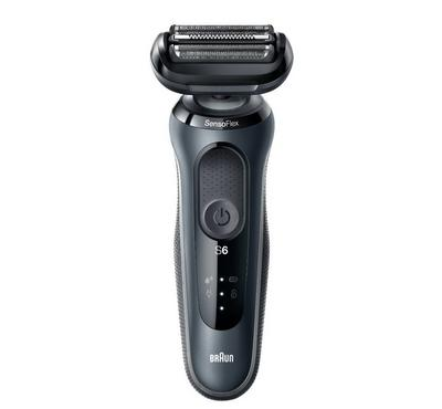 Braun Series 6 Rechargeable Mens Shaver, Wet&Dry, Grey/Black