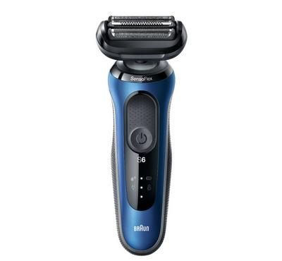 Braun Series 6 Rechargeable Mens Shaver LED Display, Wet&Dry, Blue/Grey