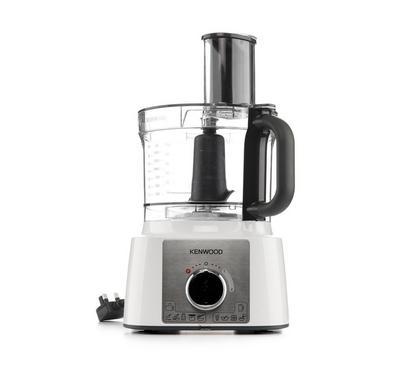 Kenwood Food Processor, 1000W, 3L Bowl, 1.5L Blender, 11 Attachments,White