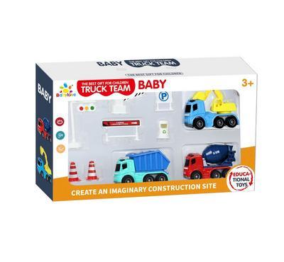 Baby Love, 3Pcs Friction Car Playset