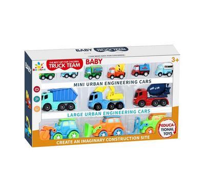 Babylove, 12Pcs Friction Car Playset