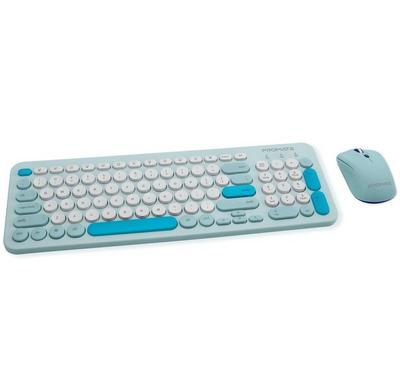 Promate, Sleek Wireless Multimedia Keyboard, Mouse Combo, Blue