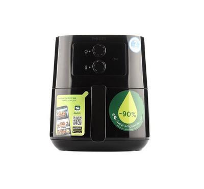 فيليبس قلاية بدون زيت، نظام الهواء الساخن، 0.8 كيلو، 4.1 لتر، أسود