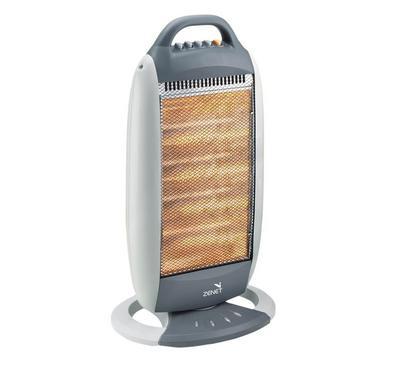 Zenet Quartz Halogen Room Heater 4 Tubes 1200W Grey