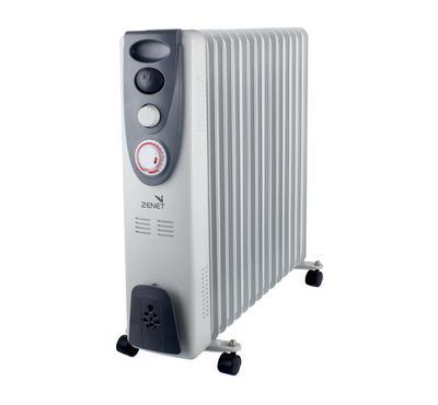 Zenet Oil Radiator Room Heater,15-Fins, 2800W, White
