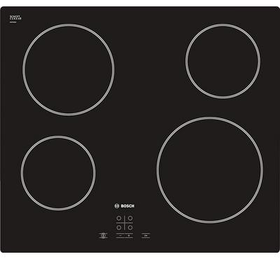 Bosch SERIE 4 Built-in Ceramic Hob Digital Touch Control,60cm, 6600W, Black