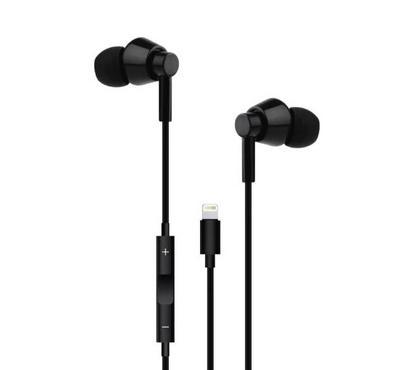 Smart iCRUSH Lightning Earphone With Volume Control Black