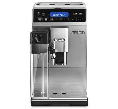 Delonghi Autentica Cappuccino 1.4l Auto Espresso Coffee Machine Digital 15bar 1400w Silver