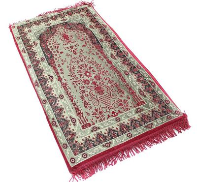 Sundus, Comfortable Prayer Mat 110X65cm, Memory Foam, Red