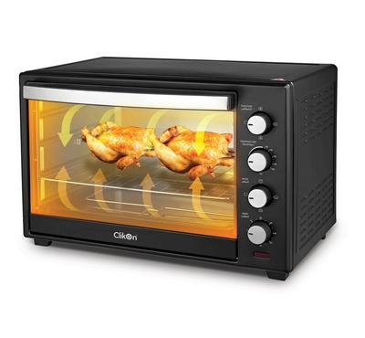 Clikon 60.0L Electric Oven Toaster With Convection 2000W Steel Body Black