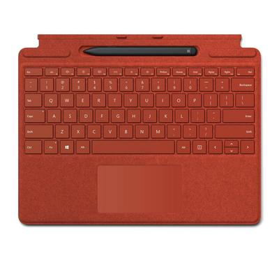 Microsoft Surface Pro X R Signature Keyboard Slim, Arabic, Poppy Red