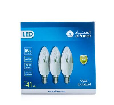 Alfanar, Led Candle 6W WW Promo Pack