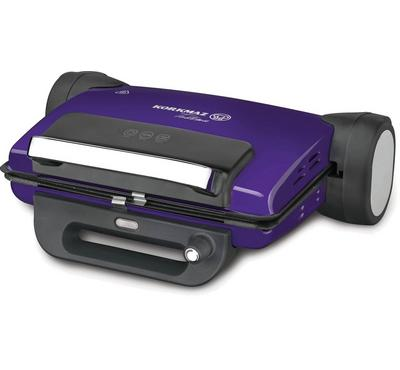 Korkmaz, Electric Contact Toaster Grill Granite Coating, 1800W, Lavender