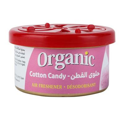 L&D, Organic Can Airfreshner for Car, Cotton Candy