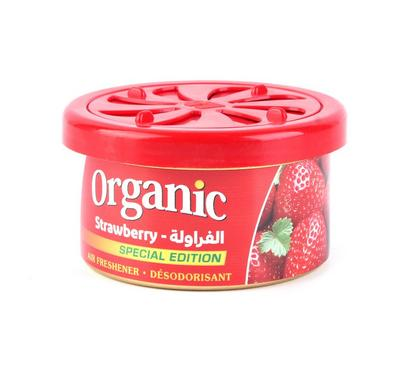 L&D, Organic Can Airfreshner for Car, Strawberry