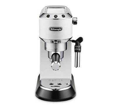 Delonghi Dedica Style1300W Pump-Driven Coffee Maker, 15 Pump Pressure Bars,White