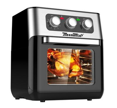 Meenumix 10.0L Manual Air Fry Oven With Grill 1500W Silver/Black