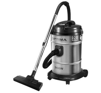 Optima 25.0L Drum Vacuum Cleaner Dry Clean Steel Body 2400W Black/Silver