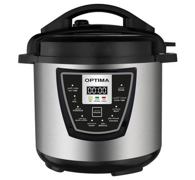 Optima 12.0L Multi-function Digital Electric Pressure Cooker 1500W Black/Silver