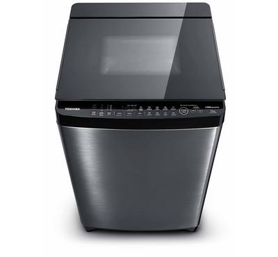 Toshiba 16.0KG Washing Machine Top Load With Pump SDD Inverter Steel Body Silver