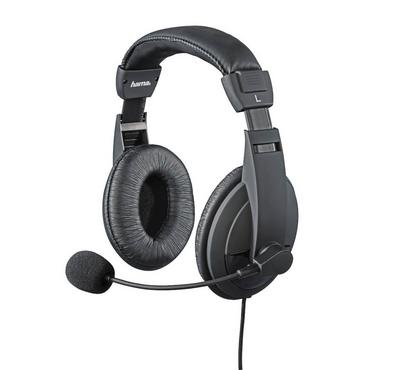 Hama, Insomnia Coal Wired Overhead Gaming Headset, Black