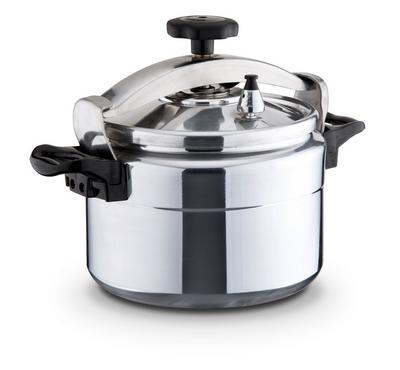 Blumen 12 Ltrs Pressure Cooker, Aluminum Base, 2 Full Safety Devices, Stainless Steel