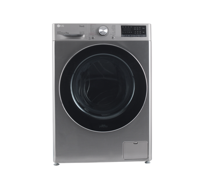 LG Front Load Washer, 8kg, AI DD, Steam, Wi-Fi, 6 Motion, Silver