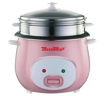Meenumix 2.8L Rice Cooker With Glass Lid 1000W White/Pink