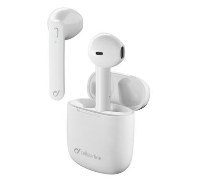 Cellularline Aries Wireless Bluetooth Earpods With Charger White.