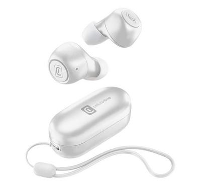Cellularline Pick Wireless Bluetooth Earpods With Charger White
