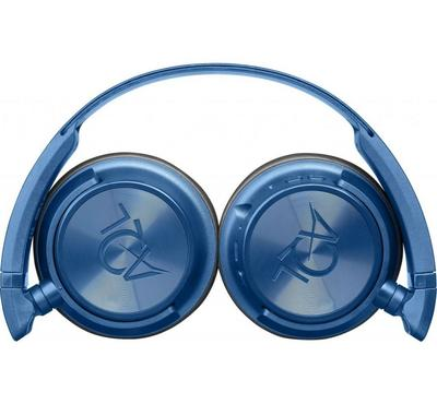 AQL Helios Wireless Bluetooth Headset Foldable Earcup With Mic 40mm Blue
