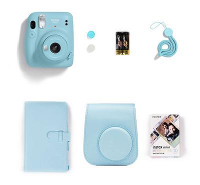 FUJIFILM Instax Camera Mini 11 Gift Box, Sky Blue