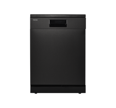 Toshiba Dishwasher, 14 Place Setting 8 Programs, Black Stainless Steel