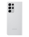 Samsung Galaxy Smart Clear View Case for S21 Ultar, Light Gray