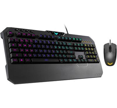 أسوس، لوحة مفاتيح ألعاب و ماوس، أسود