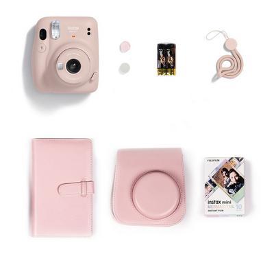 FUJIFILM Instax Camera Mini 11 Gift Box, Blush Pink