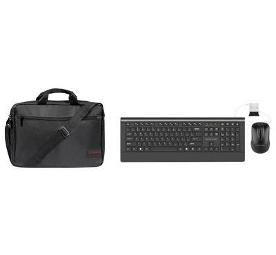 بروميت، لوحة مفاتيح لاسلكية+ ماوس لاسلكي + حقيبة كومبو للحمل