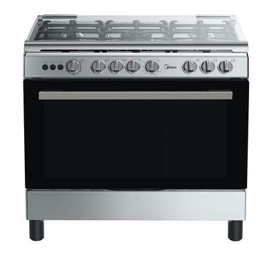 Midea 90x60cm Gas Cooking Range With Convection Full Safety Stainless Steel
