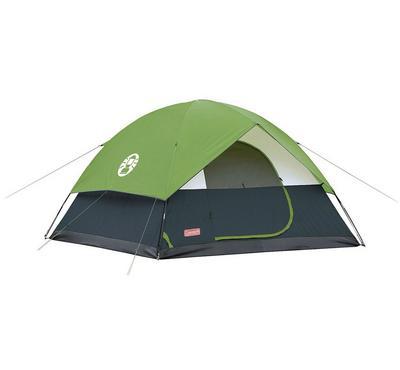 كولمان، خيمة، تتسع لـ 4 أشخاص، خضراء