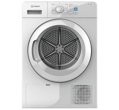 Indesit 8KG Front Load Dryer, Condenser Drying, White