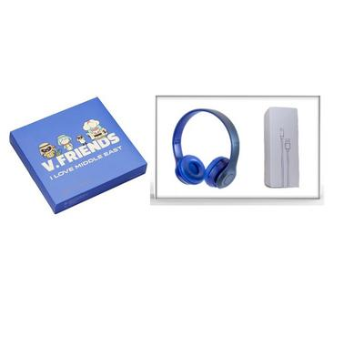 vivo Love Midle East Gift Box ,Wired Earphones With 3 in1 Data Wires,, Blue