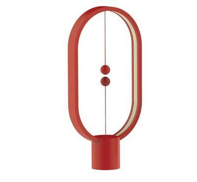 Allocacoc, Heng Balance Lamp Ellipse Plastic Usb-C, Red