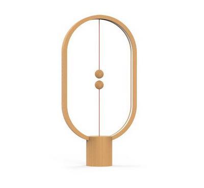 Allocacoc, Heng Balance Lamp Ellipse Usb, Light Wood